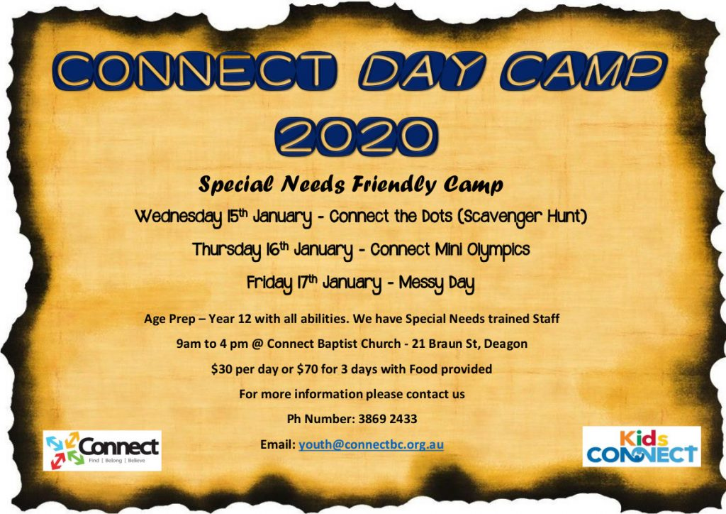 Connect Day Camp 2020 – Jan 15-17